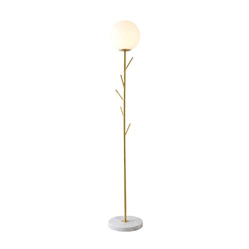 Floor Lamp met hanger haak Living Room Cloakroom Decoration Lamp Bedroom LED Energy Saving leeslamp Thuis Puur Koperen Vertical Light LED (Color : Gold, Size : 29cm*175cm)