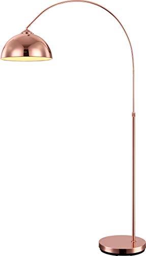 Elegante Bogen Steh Stand Leuchte Lampe Kupferfarbig 1x E27 höhenverstellbar Globo NEWCASTLE 58227C