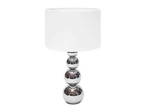 LED Stoffschirm Tischleuchte mit Touchfunktion für Ein/Aus und Dimmer in 3 Helligkeitsstufen
