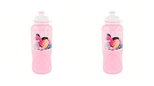 3200; pack de 2 Botellas sport minions; agnes, fluffy; capacidad 400 ml; producto de plástico; reutilizable; No BPA