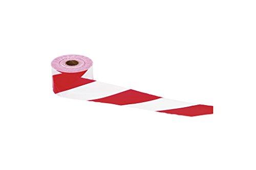 Cofan 11000309 Cinta Balizamiento, Rojo y Blanco, 80 mm x 200 m