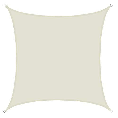 AMANKA UPF50+ Sonnensegel 4x4 Polyester Quadratisch Wasserabweisend Wetterfest Garten Balkon Beige