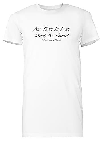 All That is Lost 2 - Subjectfound Mujer Camiseta Larga tee Blanco Women's White T-Shirt Long