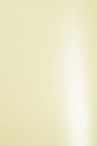 Netuno 20x Perlmutt-Creme 120g Papier DIN A4 210x297 mm Aster Metallic Cream doppelseitig schimmernd glänzend Perlglanz Metallic-Effekt Pearlpapier Glanzpapier Perlmuttglanz-Papier