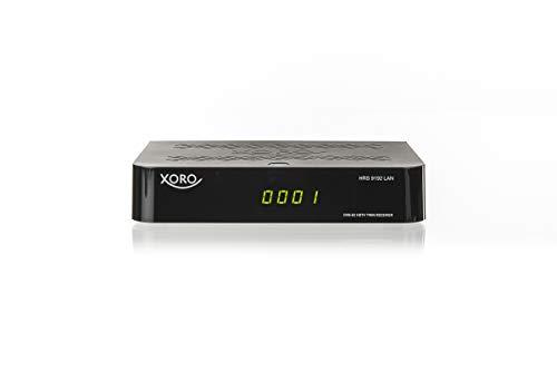 Xoro HRS 9192 TWIN Receiver (DVB-S2, HDTV PVR Ready, USB 2.0, FTA, LAN) black, SAT100598