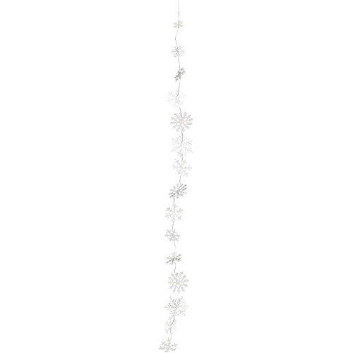 LED Lichterkette Schneekristallkette Länge: 240 cm - Räder Design