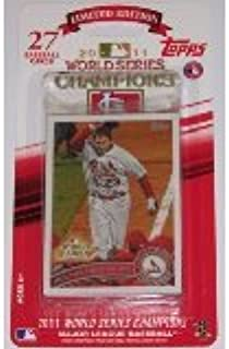 1d911009712 2011 Topps St Louis Cardinals World Series Champions Limited Edition  Factory Sealed 27 Card Set Featuring Albert Pujols