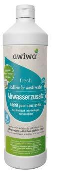 awiwa® fresh Bio Zusatz Abwassertank Reiniger für Wohnmobil, Caravan & Boot - Nachhaltiger Geruchsentferner und Reiniger für Abwasser und Rohrleitungen (1 Liter)
