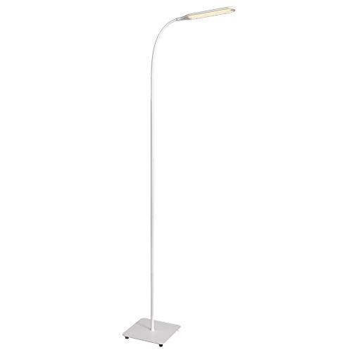 Lampada da Terra TaoTronics, Lampada da Pavimento a LED Moderna per Lettura e Lavoro, Dimmerabile, Luce con Collo d'Oca Regolabile Ottima per Lavori di Cucito o in Camere da Letto