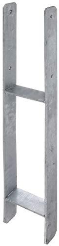 GAH-Alberts 208431 H-Pfostenträger | feuerverzinkt | lichte Breite 71 - 161 mm | Gesamthöhe 600 - 800 mm | Materialstärke 4 - 8 mm | lichte Breite 141 mm | Gesamthöhe 800 mm | Materialstärke 6 mm