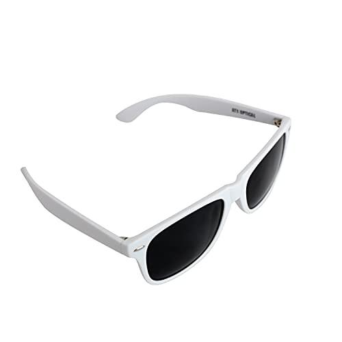 XXL Mens Extra Large Wayfinder Polarized Sunglasses for Big Wide Heads 152mm (White, Black)