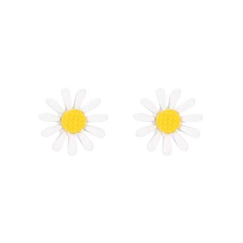 H87yC4ra 1 Par De Pendientes De Aleación Para Mujer, Pendientes Con Forma De Flor De Moda, Accesorios De Decoración De Joyería B