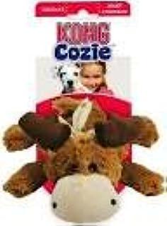 Kong Cozie Marvin el alce, tamaño mediano), diseño de perro de peluche, marrón, Squeaks para ayudar a Entice Play Suministros de Mascotas/Tiendas