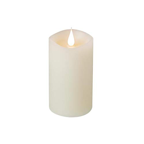 Zowaysoon LED Flammenlose Kerzen Batteriebetriebene Echtwachskerze 3D Flackernde Wick LED-Flammen ohne Duft mit 4-Stunden-Timer-Funktion [Energieeffizienzklasse A+] - Elfenbein