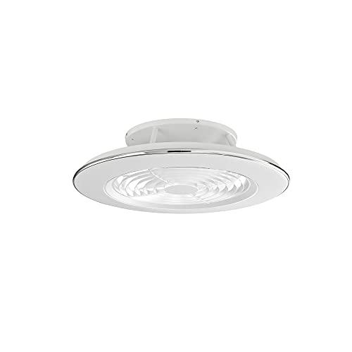 Mantra Iluminación. Modelo ALISIO. Ventilador y plafón de techo de 63 cm de diámetro en color blanco. Fuente de luz LED 70W 2700K-5000K 4900lm. Ventilador 35W