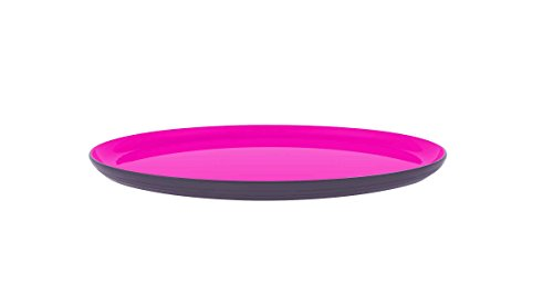 ZAK Designs 2154-0010 Wave - Piatto da Portata Rotondo, Diametro: 30 cm, Colore: Pietra/Granatina