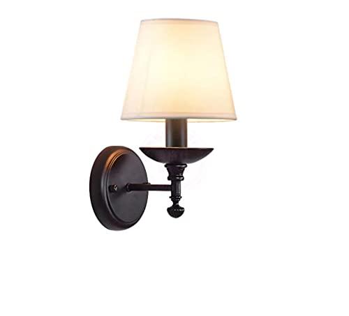 Lámpara de Pared Retro E14 de Dormitorio de Sala de Estar de Hierro Simple