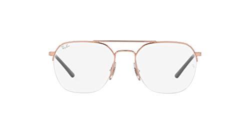 Ray-Ban 0RX6444 Gafas, ROSE GOLD, 51 Unisex Adulto