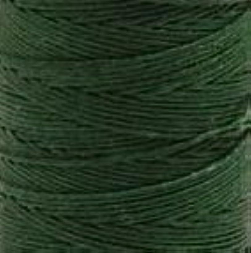 Waxed Irish Linen Crawford Cord 4 Ply 10 Yards GREEN