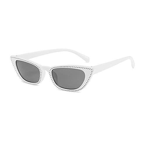 Gafas De Sol Hombre Mujeres Ciclismo Gafas De Sol De Moda para Mujer Lente De Espejo Reflectante Gafas De Sol para Hombre-Blanco_Gray