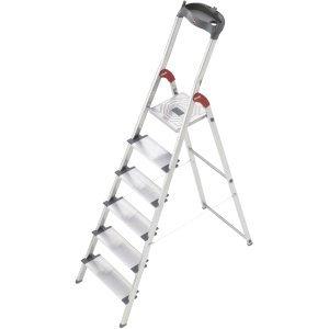 Hailo ProfiLine S 150 XXL Alu-Sicherheits-Stufenstehleiter 6 Stufen 8816-021