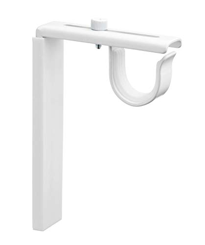 Ikea Curtain Rod Bracket Holder (4 Pack) White Adjustable