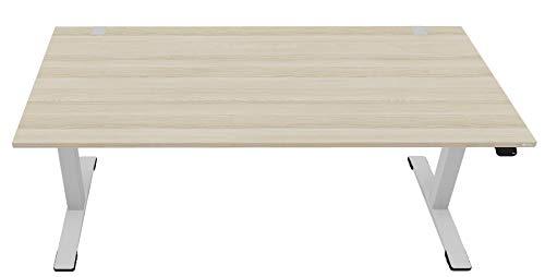 OKA Jump DL9 elektrisch höhenverstellbarer Schreibtisch (Esche-Cappuccino)