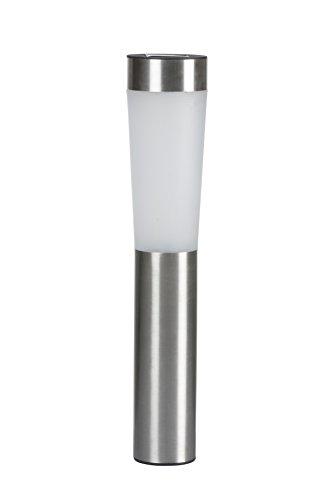 Grundig LED Solar Lampe, Stahl, silber, 7.5 x 7.5 x 56 cm