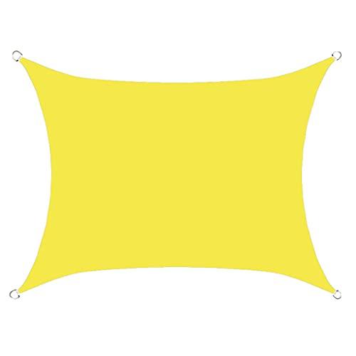 WSZS Sombrillas De Sombrillas para Jardín Patio Patio Cuadrado 98% Bloqueo UV con Toldo A Prueba De Agua para Césped Decking Party,H,3x5m