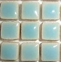 Mini vernis carreaux de c/éramique et mosa/ïque 10 mm Bleu azur