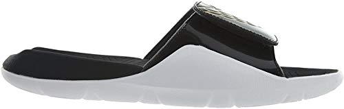 NIKE Herren Jordan Hydro 7 Schwarz/Metallic Gold Weiß Sandale 8 US 8 Schwarz/Metallic Gold-Weiß