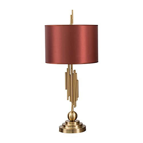 SFFZY Nueva lámpara de mesa china clásica ventana roja de la boda lámpara de la dote de la boda sala de estudio Sala de estar de la sala de aseo de la esquina de la esquina de la barra de caoba varias