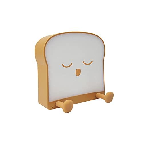 Luz Nocturna Infantil, lámpara de escritorio de pan de tostado, brillo ajustable Lámpara de estudio recargable para niños para niños Luces de dormitorio de regalo de cumpleaños