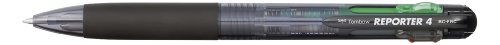 Tombow BC-FRC12 Vierfarb-Kugelschreiber Reporter 4, lose, transparent schwarz