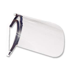 Schutzvisier mit offenem Kopfteil als Spritzschutz für Gesicht, Kunststoff