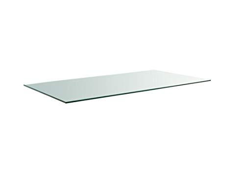 Meubletmoi dienblad, rechthoekig, van gehard glas, transparant – tafelblad robuust – voor tafel & salontafel 120x40