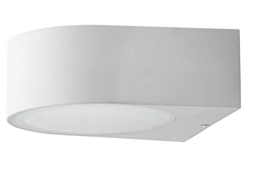 Brilliant AG Tyler - Aplique exterior de metal y cristal, 60 W, E27, color titanio