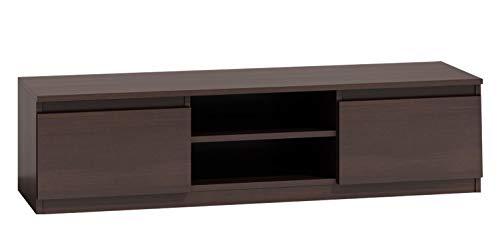 Mirjan24 TV Lowboard Monero 140, Fernsehschrank, Fernsehtisch, TV Tisch, Board, Schrank, B:140 cm, H:36 cm, T:40 cm, TV-Bank (Wenge)