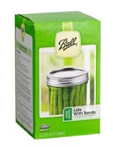 Ball Wide Mouth Canning or Mason Jar, Includes Both Lids and Bands (Rings) 12 Lids and 12 Bands or 1 Dozen. Combined with One Cap Ball Wide Plastic Storage Cap.