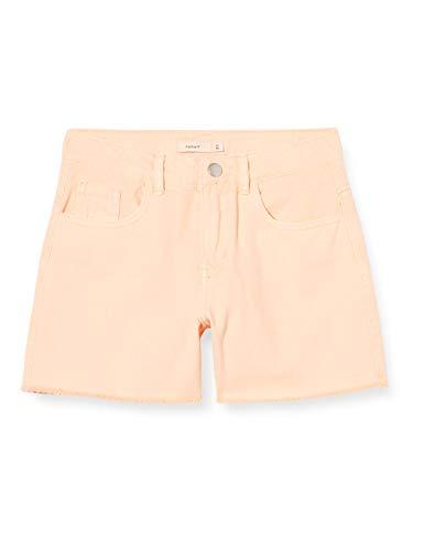 NAME IT Mädchen NKFRANDI MOM TWIIZZA Camp Shorts, Peach Nectar, 146