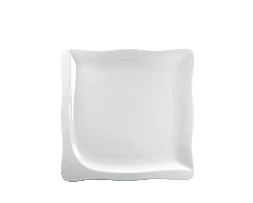CreaTable - GOURMET - Teller 22 cm aus Porzellan/Kuchenteller/Frühstücksteller