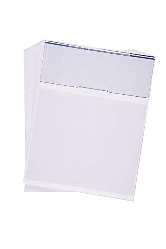 CheckOMatic Computer Check Paper - 100 Pack - Top Blank Stock Checks - Security Features & Laser Printer Compatible - Blue Diamond