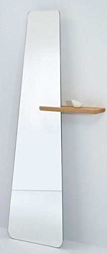 Casa Padrino Designer Standspiegel mit Regal 71 x 14 x H. 170 cm Qualität