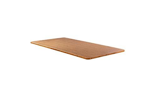 - AGIL - Elektrisch höhenverstellbarer Schreibtisch - Standing Desk in verschiedenen Farben & Größen - Ergonomischer Schreibtisch für Kinder und Erwachsene (Tischplatte Bambus)
