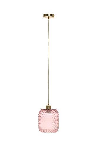 Glaslampe Retro Vintage Modern Hängeleuchte Hängelampe Lampe Rosa Gold Fassung