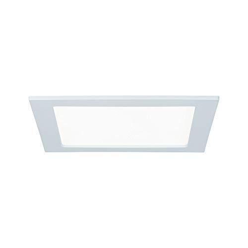 Paulmann 92066 Einbaupanel LED eckig Deckenleuchte 18W Licht 4000K Neutralweiß LED Panel Weiß IP44 spritzwassergeschützt inklusive Leuchtmittel