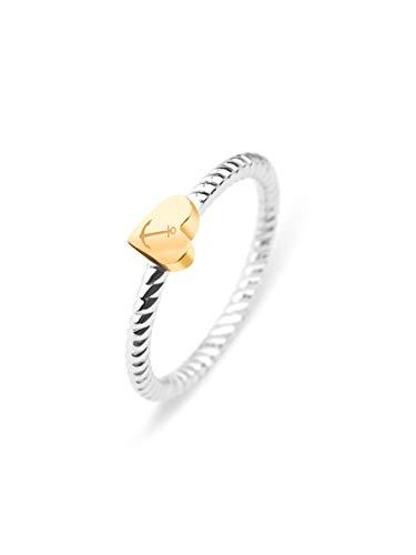 PAUL HEWITT Damen Edelstahl Ring Anchor Love - Damenring Edelstahl, Ring für Damen in Silber mit Anker-Schmuck (Gold)