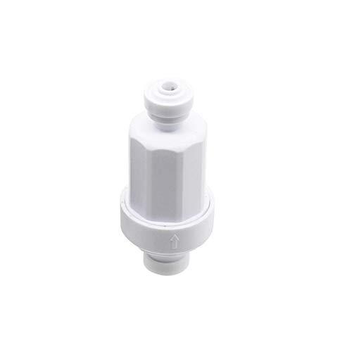 """Teleskopgartenschlauch-Anschluss Gartenbewässerung 1/4"""" Quick Connect Mikrofilter Edelstahl 120 Mesh-Purifier Front Wasser Filter Schlupfsperre Schnittstelle 1 Pc (Color : White)"""