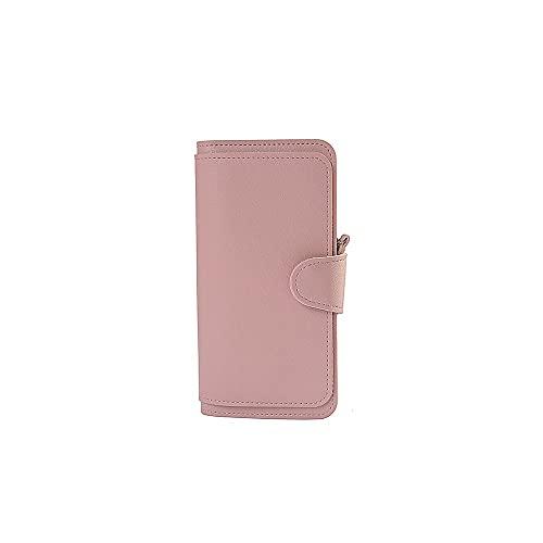 Hanpiyignvqb Cartera Monedero Mujer, Cartera de Mujeres, Estilo Largo, Gran Capacidad, Hebilla de Metal, no fácil de desconectar, compacta y Conveniente (Color : Pink)
