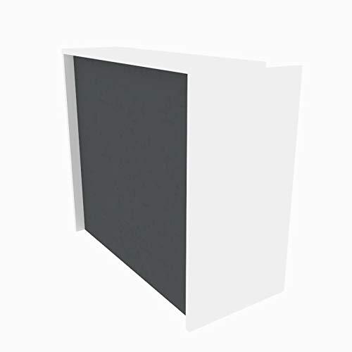 Mostrador Recepción de 120cms (COLOR GRIS GRAFITO)